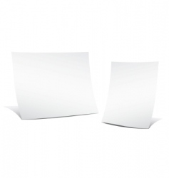 two empty sheets of paper vector image
