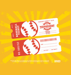 two modern professional design of baseball tickets vector image