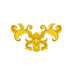 Vintage baroque ornament elegant floral pattern vector