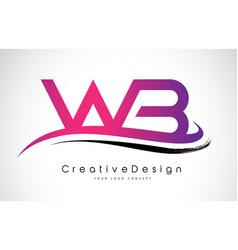 Wb w b letter logo design creative icon modern vector
