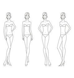Women fashion figure vector image vector image