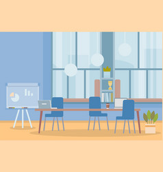 Workplace cabinet office empty workspace vector