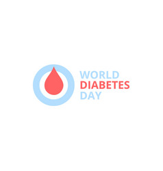 world diabetes day abstract logo red vector image