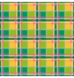 Yellow Green Pink Chessboard Background vector image