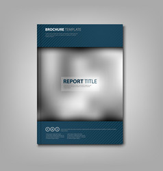 Brochures book or flyer with blue accessories and vector
