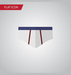 Isolated underwear flat icon underclothes vector
