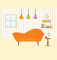 living room with sofa furniture vector image