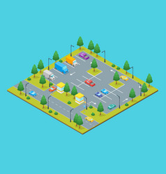 parking zone concept 3d isometric view vector image