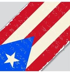 Puerto Rican grunge flag vector image vector image