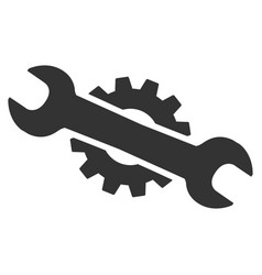 Service wrench flat icon vector