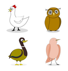 set of birds character vector image