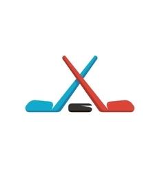 Hockey logo on white background vector image