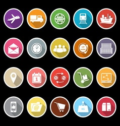 Logistic icons with long shadow vector image