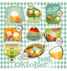 oktoberfest beer festival labels set vector image vector image