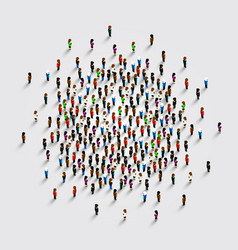 people in the shape of circle vector image vector image