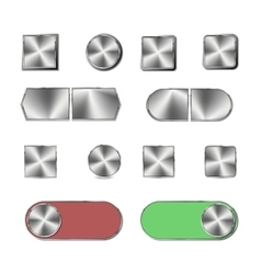 Steel button vector image