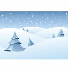 winter woodland scenery vector image vector image