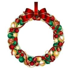 Christmas wreath decoration vector image