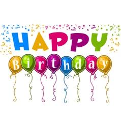 happy birthday balloons vector image vector image