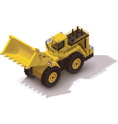isometric mining wheel loader vector image