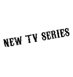 New tv series rubber stamp vector