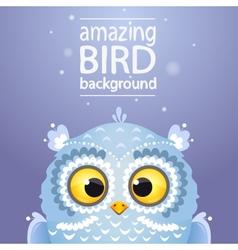 owl cute vector image vector image