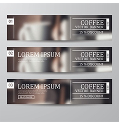 set of banner coffee vector image