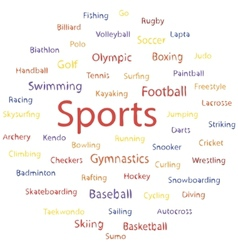 Text sports banner vector