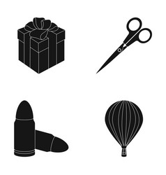 travel service and other web icon in black style vector image vector image