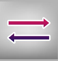 arrow simple sign purple gradient icon on vector image