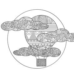 Original doodle air balloon vector image vector image