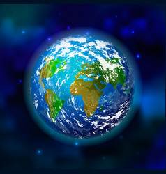 planet earth on space background vector image vector image