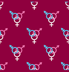 seamless pattern with trans gender sign on dark vector image vector image