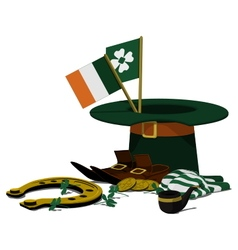 Accessories of St Patricks Day vector image