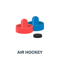 Air hockey icon flat sign element from table vector