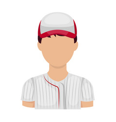 Baseball player baseball single icon in cartoon vector