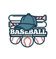 baseball tournament promotional emblem vector image