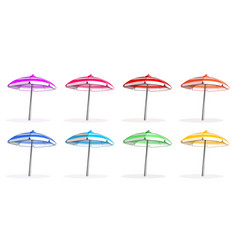 beach umbrellas set vector image
