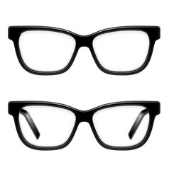 Black framed glasses vector