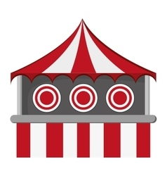 Bullseye tent in carnival icon vector