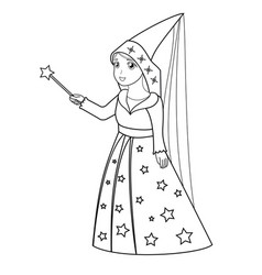 cartoon fairy coloring page vector image