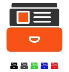 Catalog flat icon vector