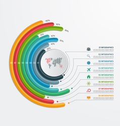 Circle infographic template with 8 processes vector