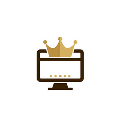 computer king logo icon design vector image