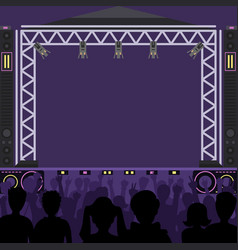 Concert stage scene music stage and night vector