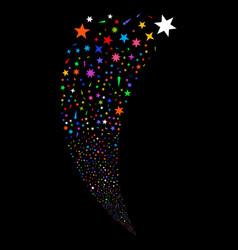 Confetti stars random stream vector