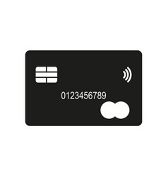 Credit card icon simple vector