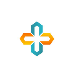 Cross shape geometry logo vector