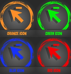 Cursor arrow minus icon sign Fashionable modern vector