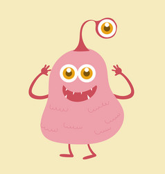 cute monster cartoon character 003 vector image